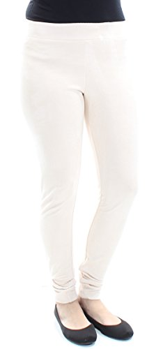 Bar III Women's Faux-Suede Pull-On Pants (Washed White, Small) by Bar III