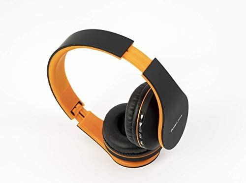 PowerLocus Wireless Bluetooth Over-Ear Stereo Foldable Headphones, Wired Headsets with Built-in Microphone for iPhone, Samsung, LG, iPad (Orange) 31TttclN2aL