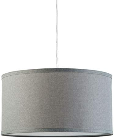 Messina Drum Pendant Ceiling Light – Heather Gray Shade – Linea di Liara LL-P719-HG