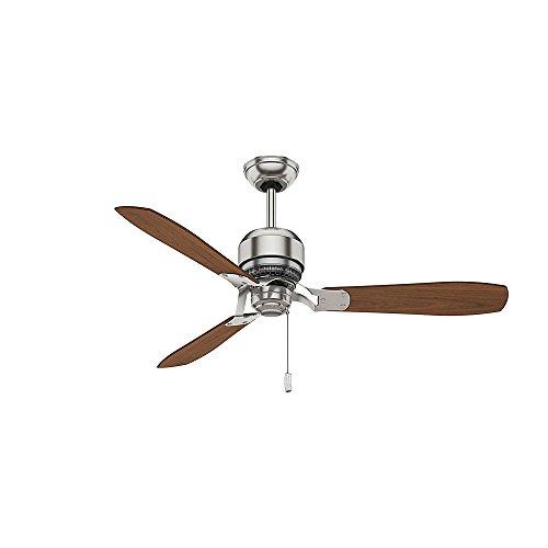 Casablanca 59501 Tribeca 52-Inch 3-Blade Ceiling Fan, Brushed Nickel with Burnt Walnut/Walnut Blades