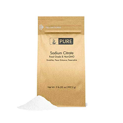 Sodium Citrate (2 lb.) by Pure Organic Ingredients, Ingredient For Molecular Gastronomy Cooking & Recipes, Mac & Cheese, Nacho Cheese, Salty & Sour Flavoring, Seasoning, Preservative, & Antioxidant