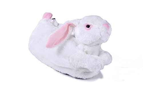 Happy Feet 9078-4 - White Bunny - X Large Animal Slippers