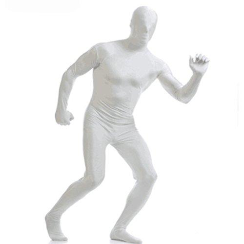 Invisibility Suit (Halloween Costume Ninja Invisibility Full Bodysuit White S)