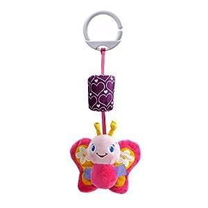 Baby hanging toys pram toys Animal Handbells Baby Stroller Hanging Bell Infant Baby Soft Plush Toys Rattles Goosun Bed…