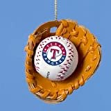 Texas Rangers Ball and Glove Christmas Ornament