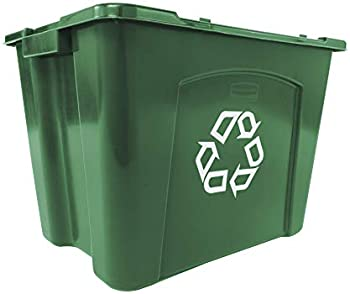 Rubbermaid Commercial Products FG571473GRN Stackable Recycling Box