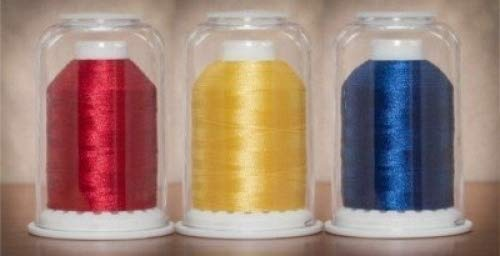 Hemingworth 1000 m Embroidery Thread Color Set, Red - Yellow - Blue 4337016761