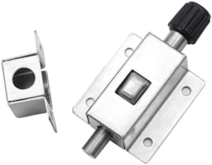 DOITOOL cerrojo de puerta de acero inoxidable cerrojo de puerta automático cerradura de puerta corredera con tornillos plata: Amazon.es: Bricolaje y herramientas