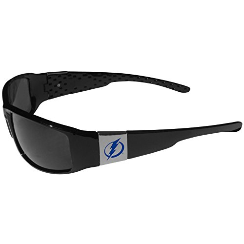 NHL Tampa Bay Lightning Chrome Wrap Sunglasses, Black, Adult Size (Tampa Bay Rays Pool)