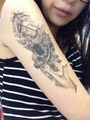 Han Arm Ttowieren Ganesh Tattoo Aufkleber Wasserdicht Thailand