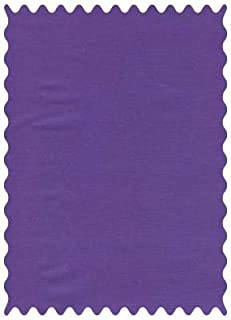 product image for SheetWorld 100% Cotton Percale Fabric by The Yard, Solid Purple Woven, 36 x 44