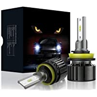 Car LED Headlight Bulbs - 6000K Cool White All-in-One Conversion Kit (F11)