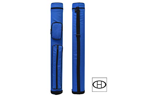 2x2 Hard Oval Pool Cue Billiard Stick Carrying Case (Several Colors Available) (Blue(New))