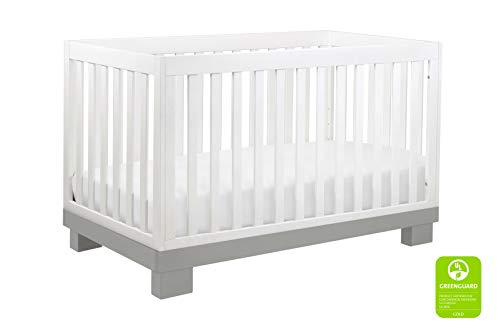 Babyletto Modo 3-in-1 Convertible Crib with Toddler Bed Conversion Kit, Grey / White from Babyletto