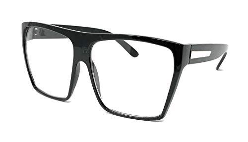 Large Oversized Retro Fashion Clear Lens Square Glasses ()