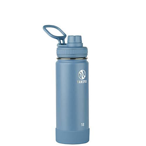 Takeya Actives Insulated Water Bottle w/Spout Lid, Bluestone, 18 Ounce