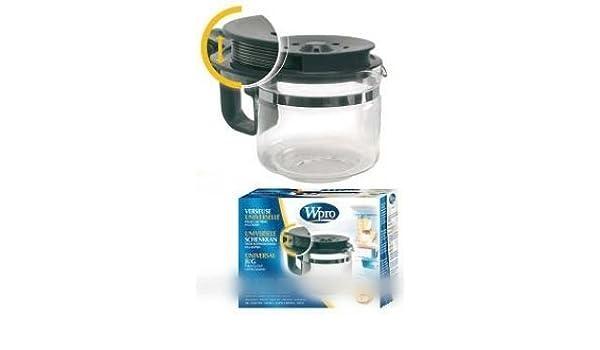 CONSTRUCTEURS Divers – Jarra universal regulable 9/12 tazas para Cafetiere Filtro – bvmpièces: Amazon.es: Hogar