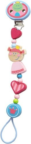 HABA Heart Princess and The Frog Wooden Pacifier Chain (Made in Germany) ()
