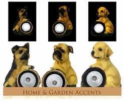Florals Solar LED Dog Statuary Light, Garden Outdoor Yard Decor Landscape LED Lamp Lights, Great Gift
