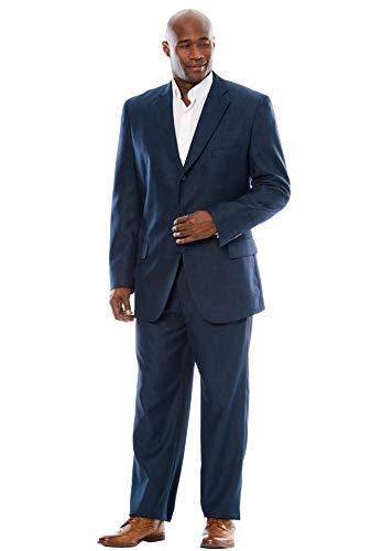 (KS Signature Men's Big & Tall Easy Movement Three-Button Jacket, New Navy Pindot Big-56)