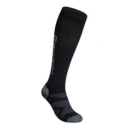 (THE MERINO SKI SOCK (Men's and Women's) Biotorsion Merino Ultra-Comfort (Large))