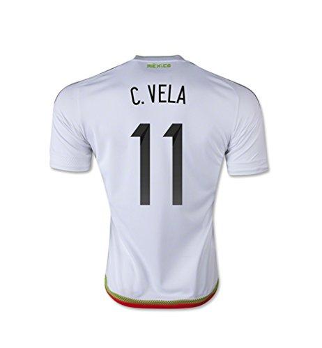 説明マークダウンプラスチックadidas C. VELA #11 Mexico Away Jersey 15/16- Youth (Authentic name and number of player) /サッカーユニフォーム メキシコ アウェイ用 2015-16 C. ベラ 背番号11 ジュニア向け