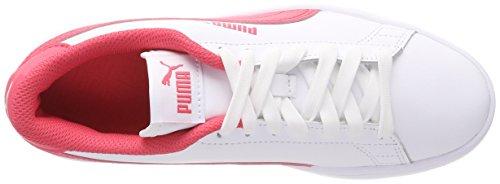 Pink paradise Puma Kinder Sneaker Weiß White L Puma V2 Jr Unisex Smash 7pFvHP