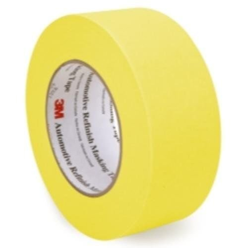 (3M 06656 Crepe Paper Automotive Refinish Masking Tape, 28 lbs/in Tensile Strength, 60 yds Length x 2
