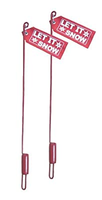 Western Red Flag Blade Guide Sticks, Pair With Mounting Hardware