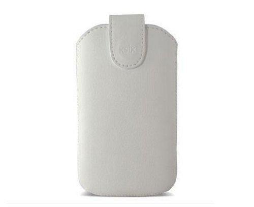 KSIX B9000FU84VIBI5 Viena Pouch Handytasche für Apple iPhone 5 Große HL weiß