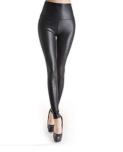 Wet cintura Falda alta Ahr Look Legging de mujer de qxnn4THtw