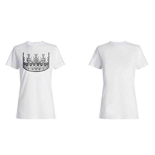 Krone König Königin Kunst lustige Neuheit Damen T-shirt a564f