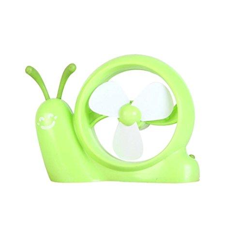 Mini Portable Snail USB Battery Powered Cooling Air Fan Desktop Cooler Summer