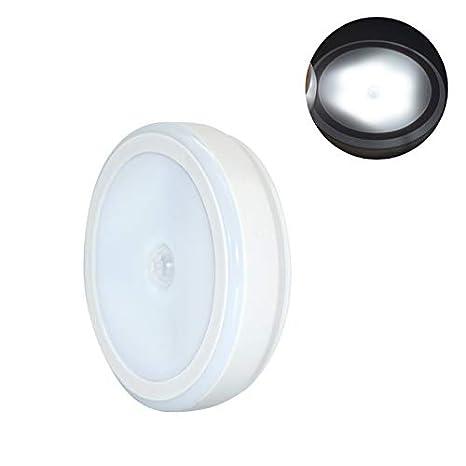 lzndeal Lámpara de luz LED Wireless PIR Motion Sensor Infrared Round para gabinetes de Dormitorio