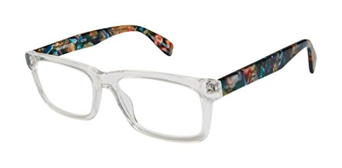 Vanderbilt Street - Rectangular Trendy Fashion Reading Glasses for Men and Women - Crystal Mosaic (+2.00 Magnification Power) (Reading Street Scojo Glasses)