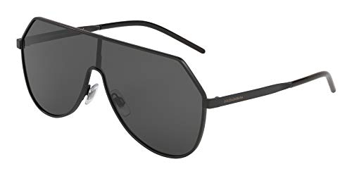 (Dolce & Gabbana Men's DG2221 Matte Black/Grey One Size)
