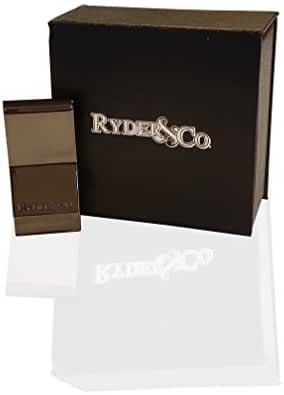 Ryder & Company Money Clip - Deluxe Gunmetal Series