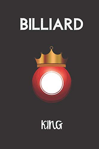 billiard king: small lined Billiards Notebook / Travel Journal to write in (6'' x 9'') 120 pages por Marcolino in the space press