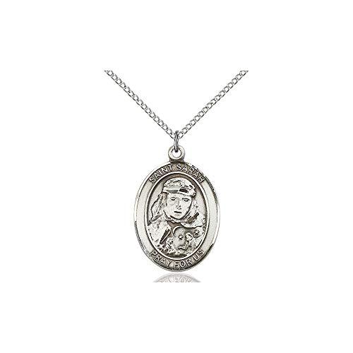 DiamondJewelryNY Religious Medal, Sterling Silver St. Sarah Pendant