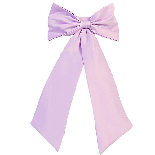 Sash Belt for Flower Girl Dresses with Big Bow Stain Girls Bow Belt Lilac S