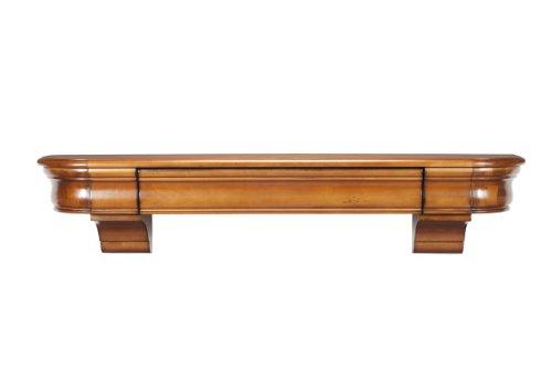 Oak Mantel - Pearl Mantels 415-48-50 Abingdon Wood 48-Inch Wall Shelf with Drawer, Medium Distressed Oak