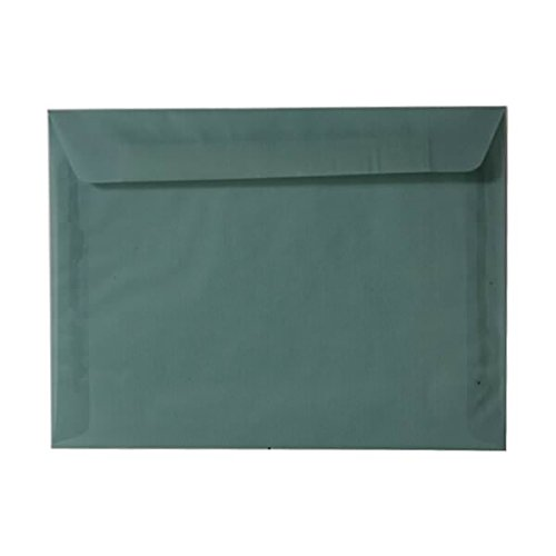JAM PAPER 9 x 12 Booklet Translucent Vellum Envelopes - Ocean Blue - 25/Pack Blue Translucent Vellum Envelope