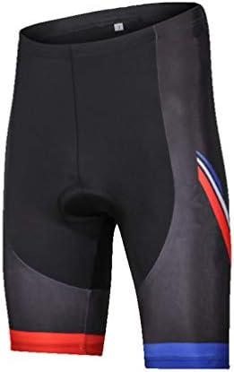 男性用サイクリングショーツ、コンプレッションパッド入りハーフパンツ、肌に密着、アウトドアスポーツ用MTB下着、吸汗性と快適性