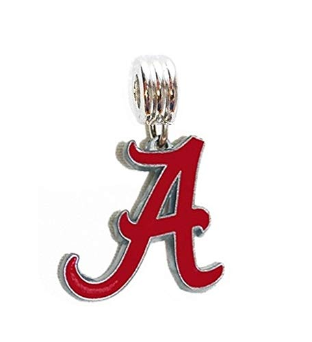 Heavens Jewelry University of Alabama Crimson Tide Team Charm Slider Pendant for Your Necklace European Bracelet DIY Projects ETC ()