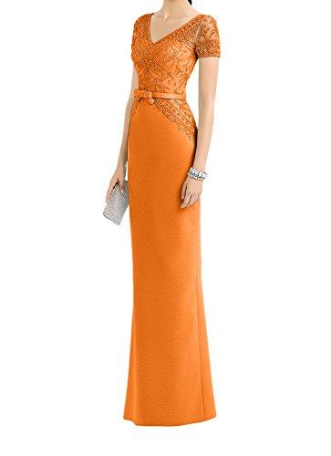 Kurzarm Standsamt Spitze La Ballkleider Abendkleider Kleider Etuikleider Braut Orange Lang Brautmutterkleider mia TaqES