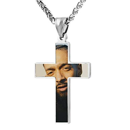 GD66IOU8 Trend Singer_Hu_ssle Necklace Men and Women Christianity Religious Belief Neck Ornaments