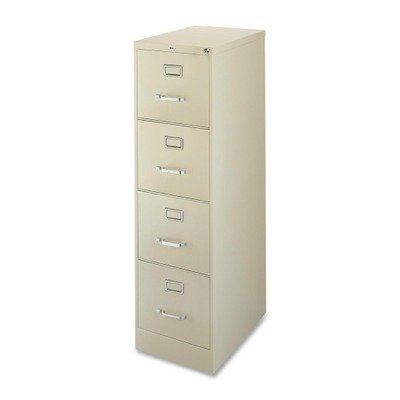 Lorell 4-Drawer Vertical File, 15 by 22 by 52, Putty by Lorell
