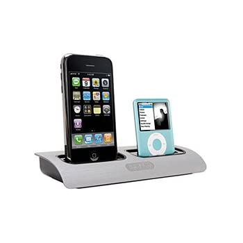 multiple iphone charging station griffin powerdock dual position charging 6463