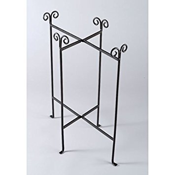 KINDWER Iron Floor Stand for Oblong Tub, Black ()