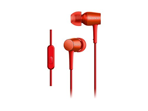 Cinnabar Type - SONY h.ear in canal type earphone High-Resolution Audio sound with remote control.Microphone Cinnabar Red MDR-EX750AP / R